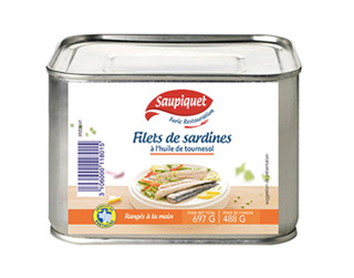Saupiquet Furic Restauration : Filets de sardines à l'huile de tournesol