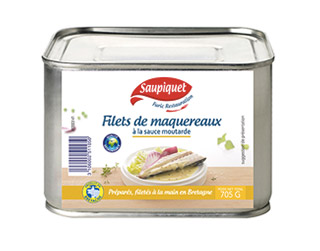 Saupiquet Furic Restauraution : Filets de maquereaux<br />